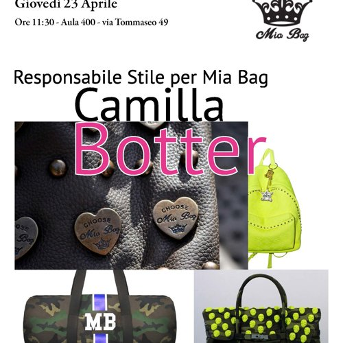 I GIOVEDÌ DELL'ITS: APPUNTAMENTO CON CAMILLA BOTTER DI MIA BAG
